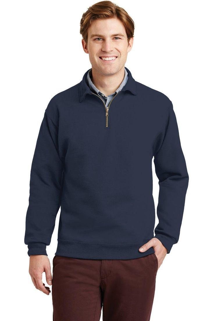 JERZEES SUPER SWEATS NuBlend- 1/4-Zip Sweatshirt with Cadet Collar.  4528M Oxfor
