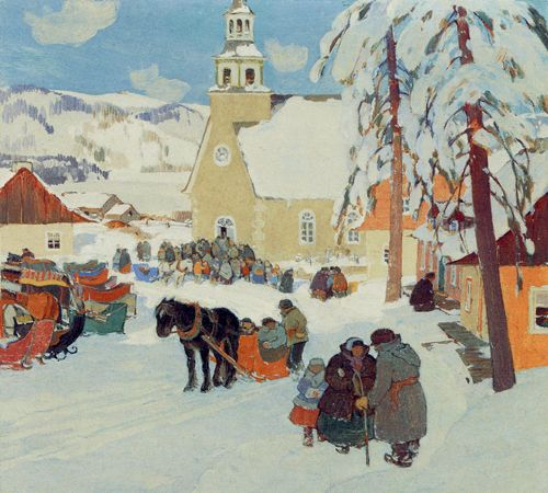 Leaving Church - Clarence Gagnon