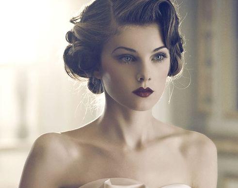 stunning vintage wedding hair + make up #weddinghair #bridalhairstyle #vintagehair