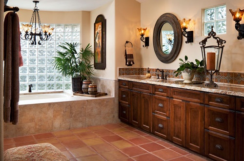 62 best spanish style homes images on pinterest tuscan for Spanish style master bathrooms