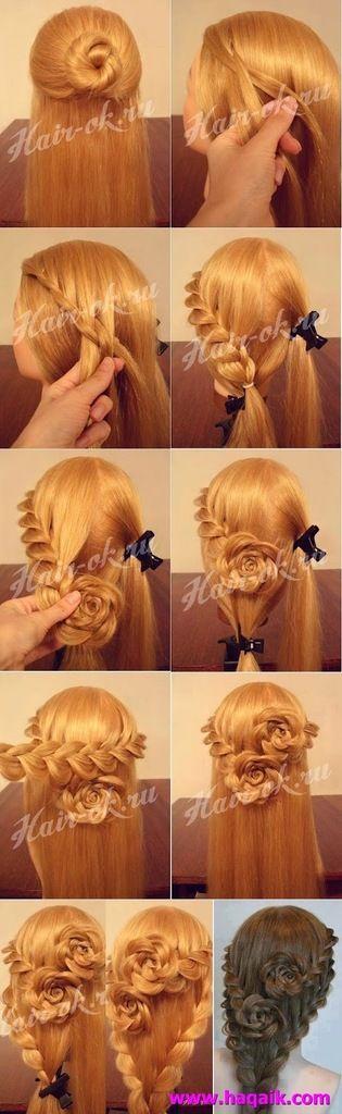 hair flower tutorial  -girl hair styles
