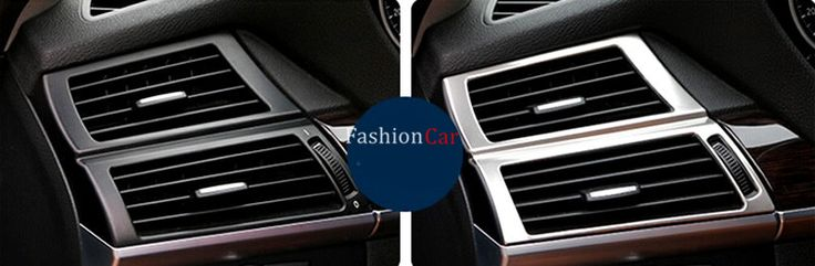 For BMW X5 E70 2008 2009 2010 2011 2012 2013 Car Inner Side Air Condition Vent Outlet Cover Trim 2pcs