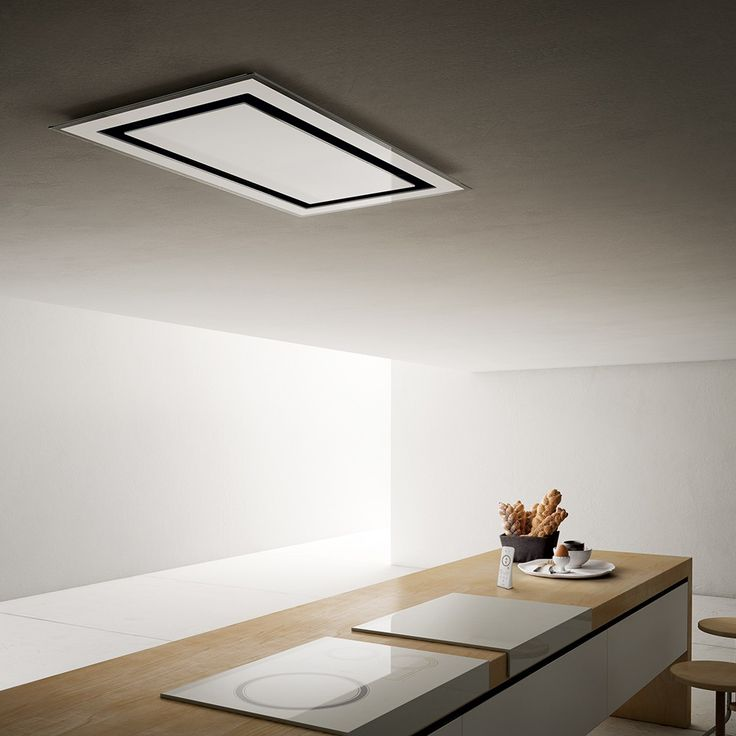 NEW discreet ceiling kitchen hood made by Elica ETOILE designed by FABRIZIO CRISÀ