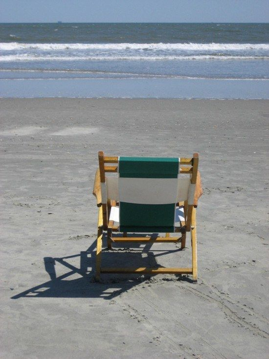 Isle of Palms Beach, Charleston, South Carolina - Nothing like a sun lounger and a dip in the sea to clear your head!