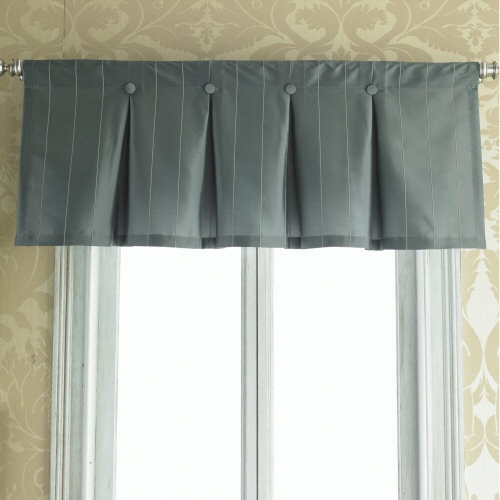 Inverted Box Pleat Button Valance