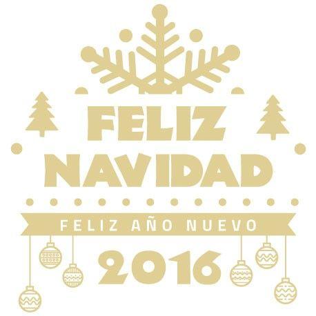 Adhesivo con temática navideña y con el texto de feliz Navidad y feliz año nuevo. Ideal para decorar  y celebrar las fiestas.Personaliza el color a tu gusto.