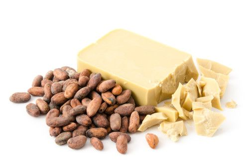 Kakaobohnen und Kakaobutter