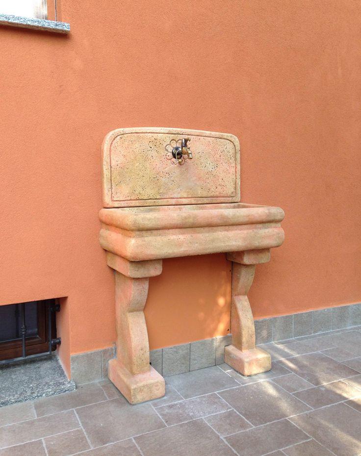 Lavello da giardino Anterselva, finitura: pietre del borgo ...