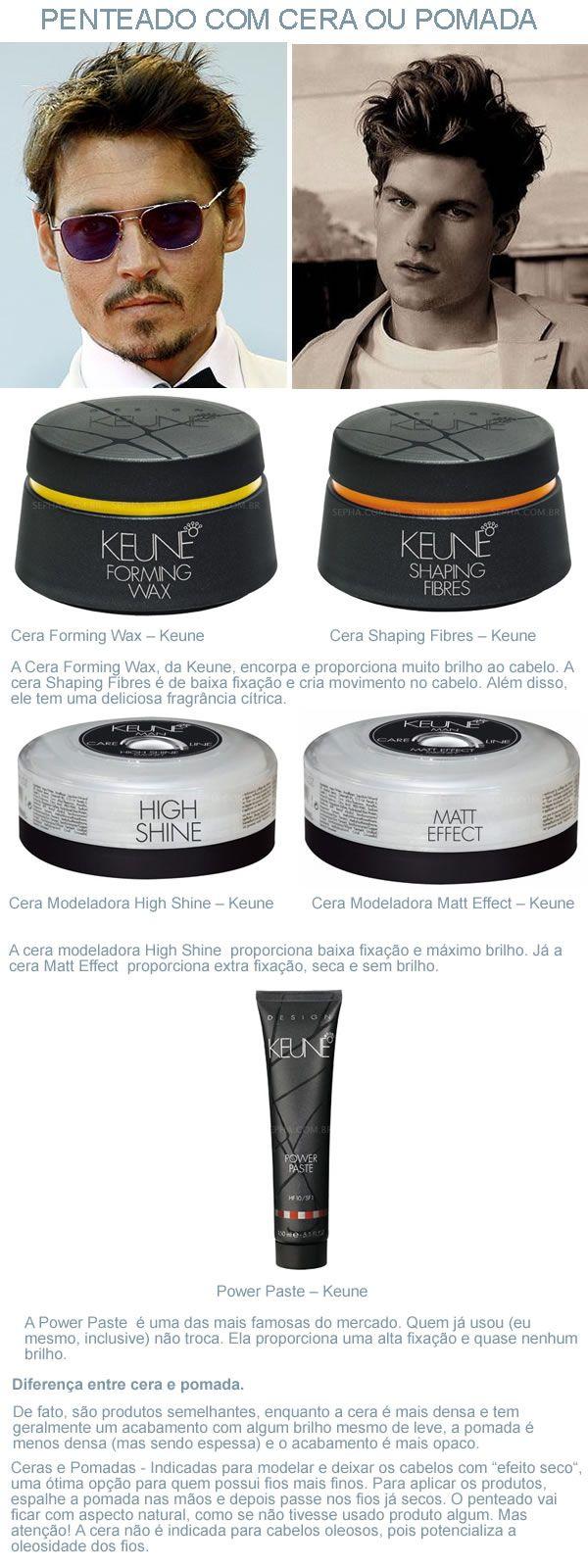 Os produtos corretos para cada tipo de penteado do homem Confira qual é o produto indicado para cada tipo de corte ou penteado, para conseguir o estilo e o look desejado.
