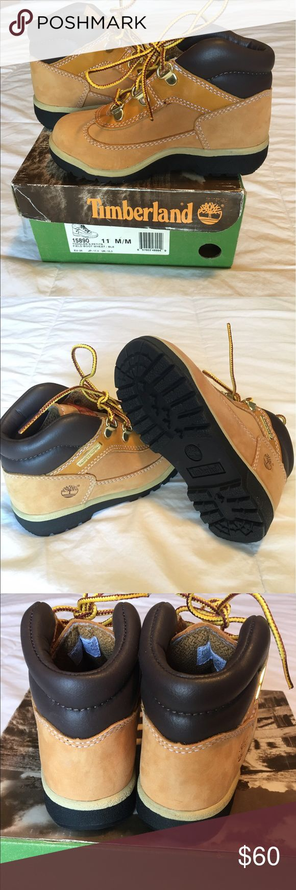 ⭐️NEW⭐️Toddler Timberland Field Boot, size 11 Wheat; all leather Timberland Shoes Boots