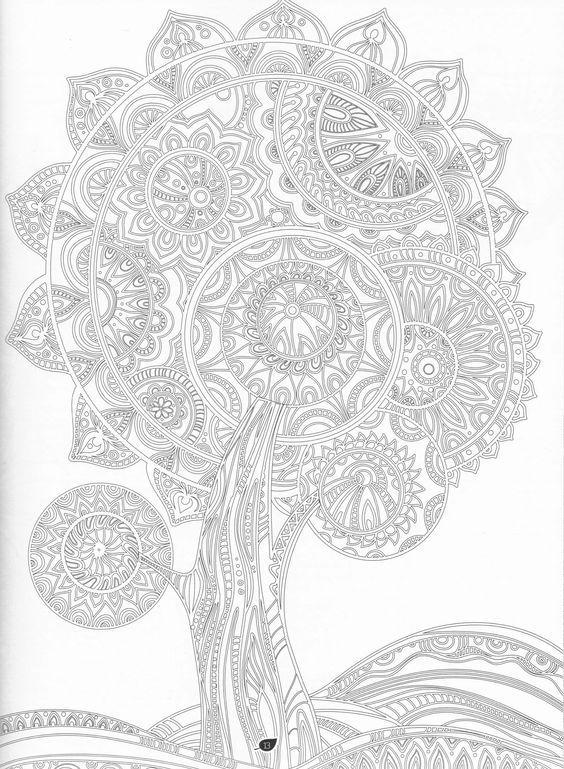 Mandala árbol | MANDALAS PARA PINTAR | Pinterest