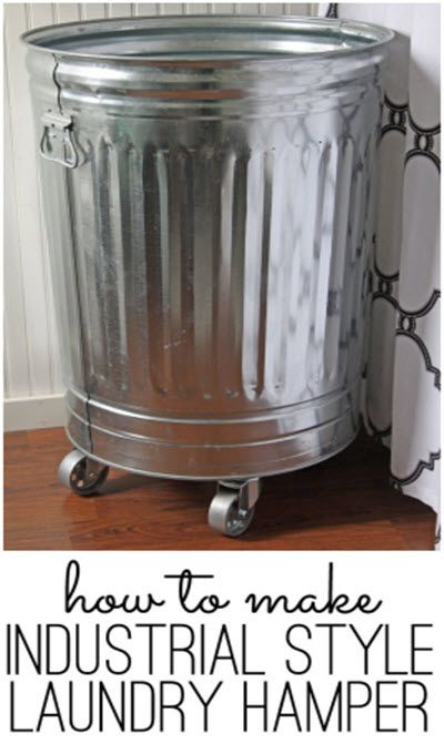 How To Build An Industrial Style Laundry Hamper http://homestead-and-survival.com/how-to-build-an-industrial-style-laundry-hamper/