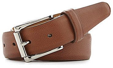 Cole Haan Milled Edge Leather Belt on shopstyle.com