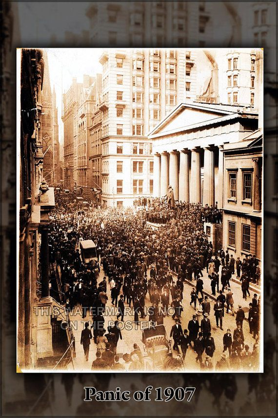 24x36 Poster Panic Of 1907 Bankers' Panic  Wall by HistoryPrints