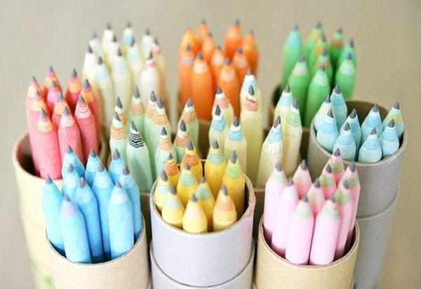 freshly sharpened pastel pencils
