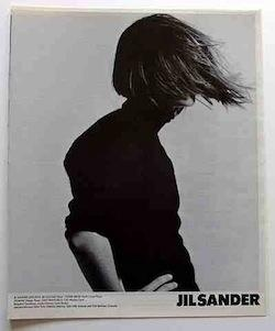 jil sander archive. Large image / small logo / small white space