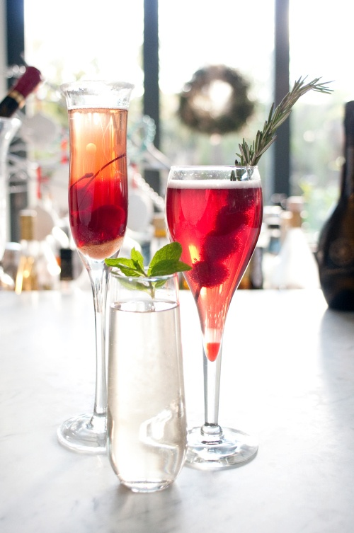 Champagne cocktails via Courtney Out Loud and Kinfolk Magazine