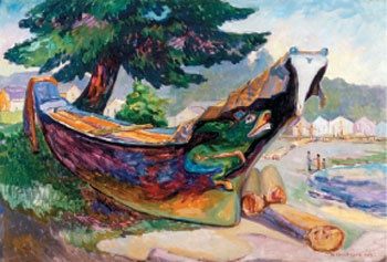 Emily Carr, contemporary of the Group of Seven  -  Indian War Canoe: Emily Carr, Artists Emily, Alert Bays, Art Emily, Canoeing Alert, Fine Art, Canadian Artists, Indian War, War Canoeing