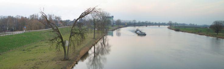 'Waterkracht'. Dit kunstwerk kun je zien al een metafoor voor de kracht van het Maaswater.  De Maas geeft en neemt. De Maas heeft een vruchtbaar landschap gemaakt en, maar is ook wispelturig en het gevaar voor overstromingen  blijft aanwezig. Kunstenaar is Frans van Hintum. http://www.kunstaandemaas.nl/kunstwerken/waterkracht/