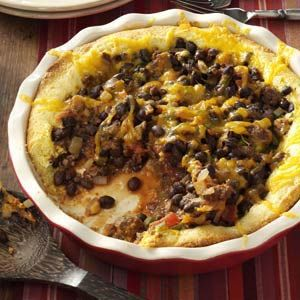 Black Bean Tamale Pie Recipe from Taste of Home -- shared by Laura Morris of St. Joseph, Missouri