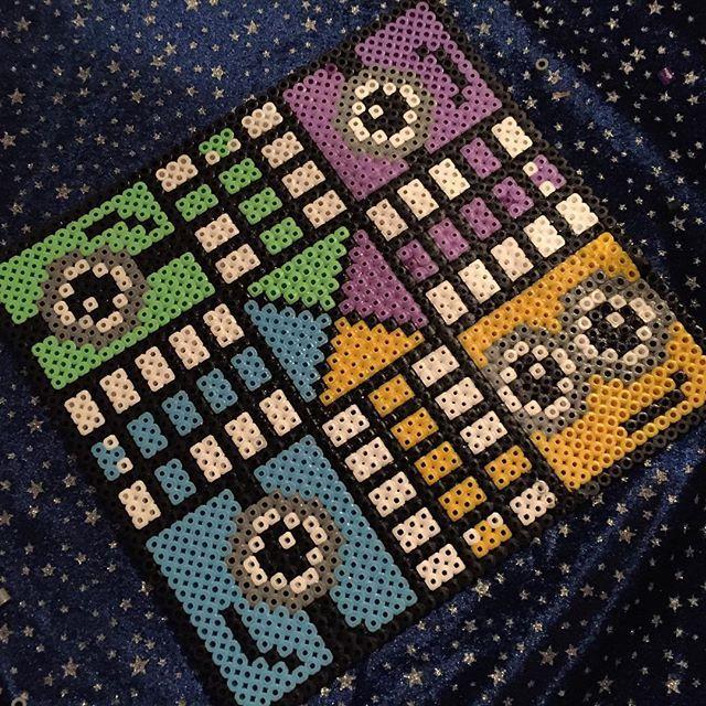 Minion ludo board game hama beads by luzibalto