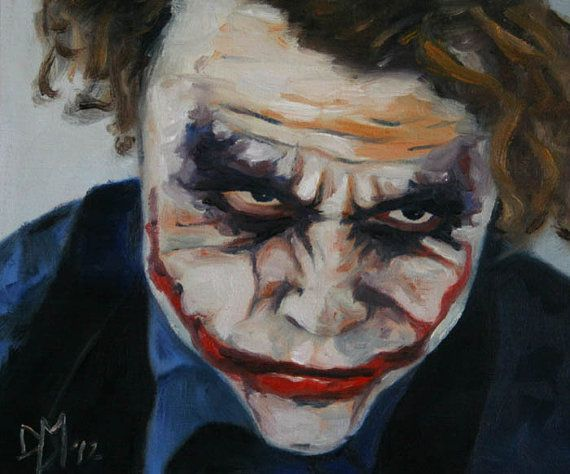 Original Oil Painting Fan Art Joker Clown Heath by Magicofcolour, £15.00