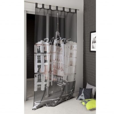 """Voilage photoimprimé """"Paris"""" à pattes en polyester - 3 Suisses"""