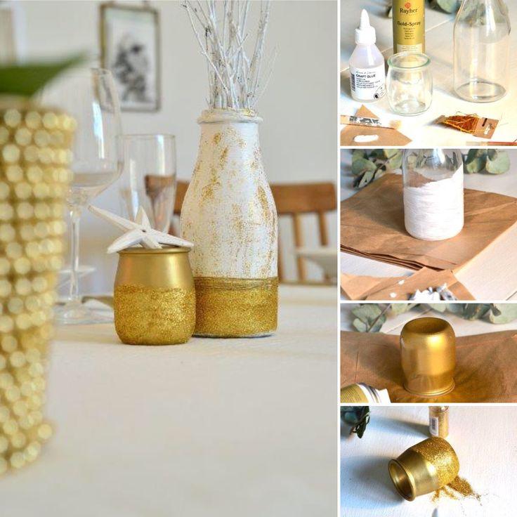 1000 ideas about petit pot en verre on pinterest jarre en verre lumi re des bougies de th for Peinture a paillette blanche
