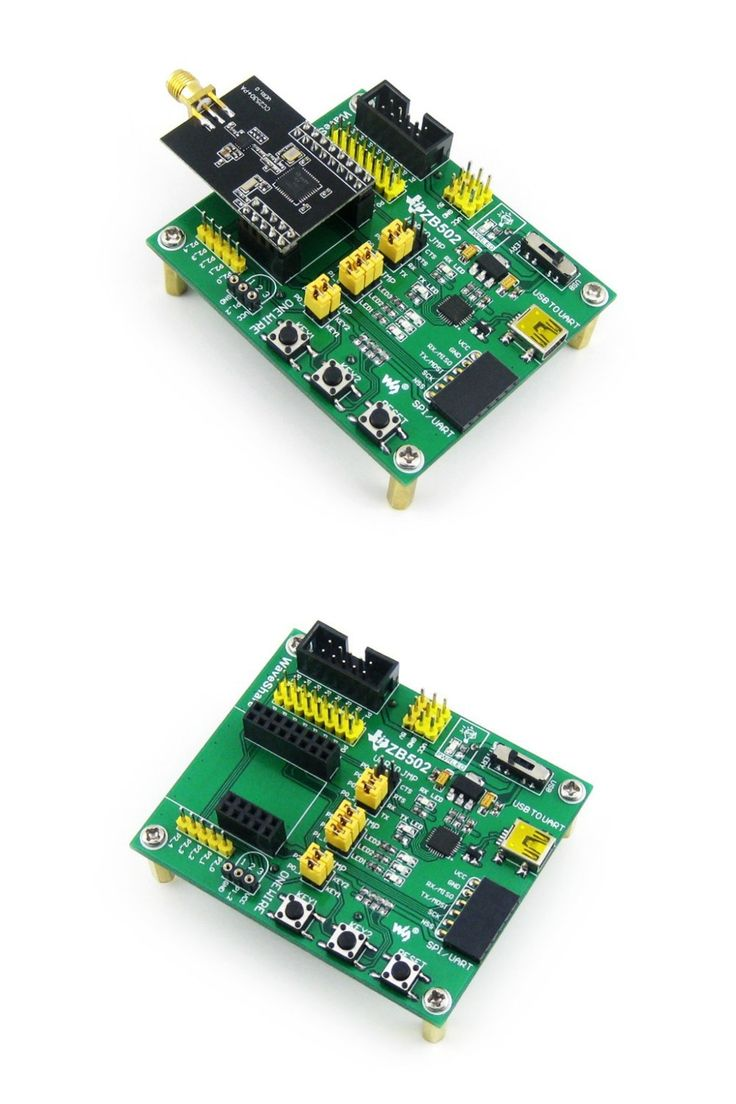 ZigBee Module CC2530 Wireless Communication Module Over 1500 Meters Evaluation Kit Pinheader pitch: 2.54mm = CC2530 Eval Kit2