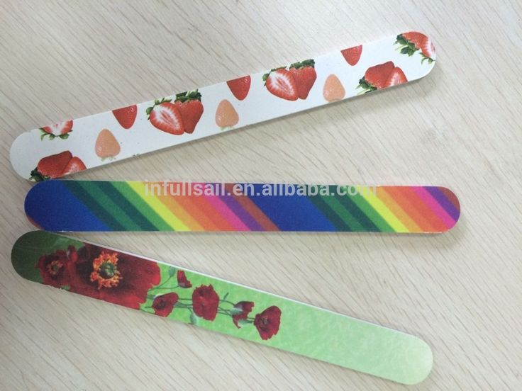 personalized wholesale nail files 120/180 nail file custom printed disposable manicure products nail file