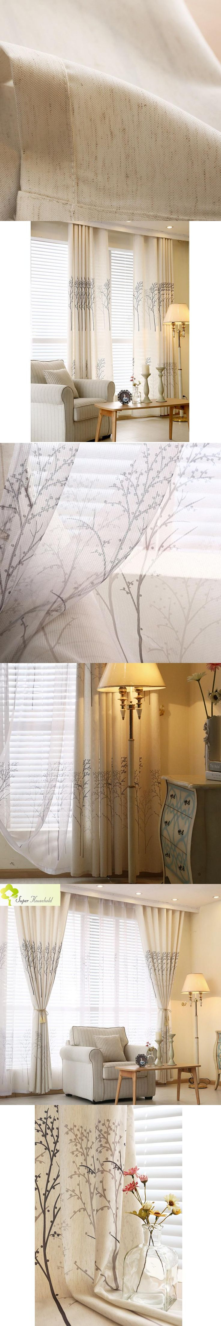 Pastoral Tree Printed Children Room Curtains for Bedroom Living Room Roman Blinds Kitchen Door Curtains Window Decorative Drapes