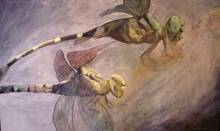 """Dennis Kalichuk artist - """"Dragon Storm""""  (now sold)"""