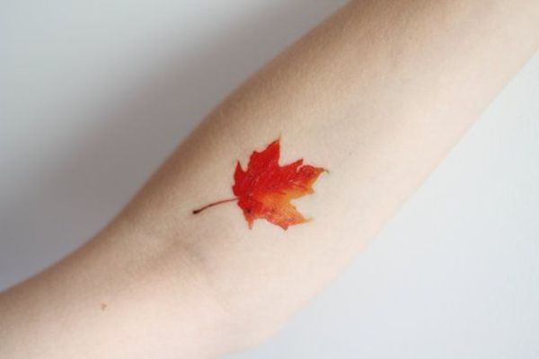 Maple leaf - Looks great on fair skin. #TattooModels #tattoo