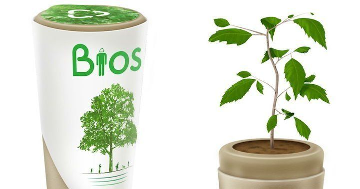 From death, new life springs. That's the idea behind the biodegradable Bios Urn, a seed that uses the ashes of a loved one to grow into a tree.