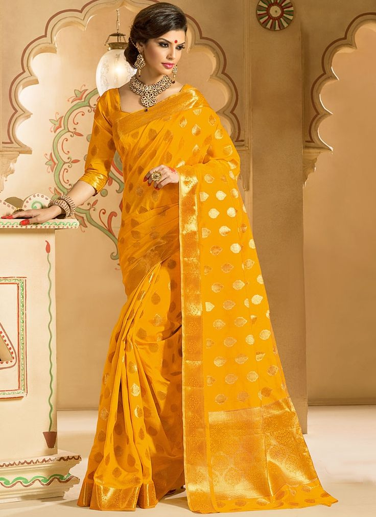 Honoured Golden Kanchipuram Silk Saree