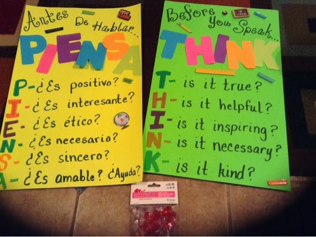 Tales of a 4th Grade Dual Language Diva. Before you speak...dual language posters