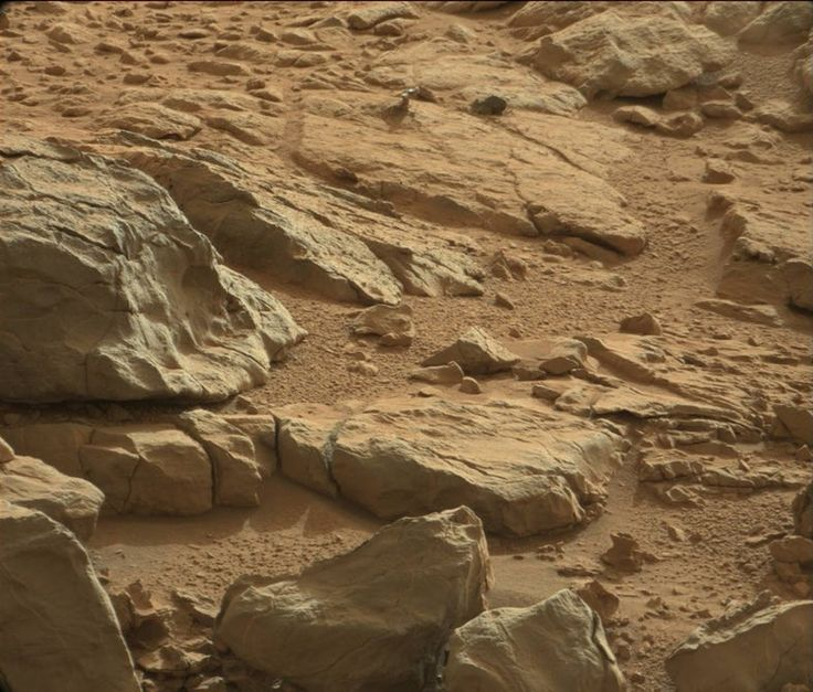 At the top of this picture NASA scientists spotted a mysterious shiny rock yet to be...