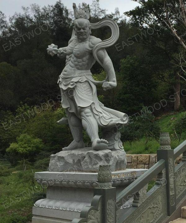stone carving Kongo Rikishi statue