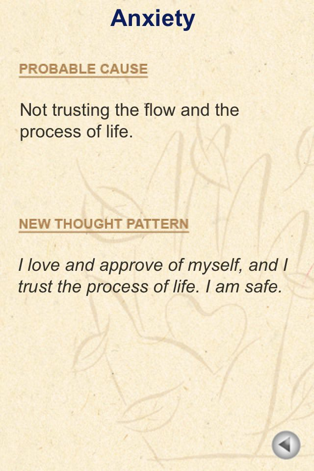 Louise Hay anxiety                                                                                                                                                      More