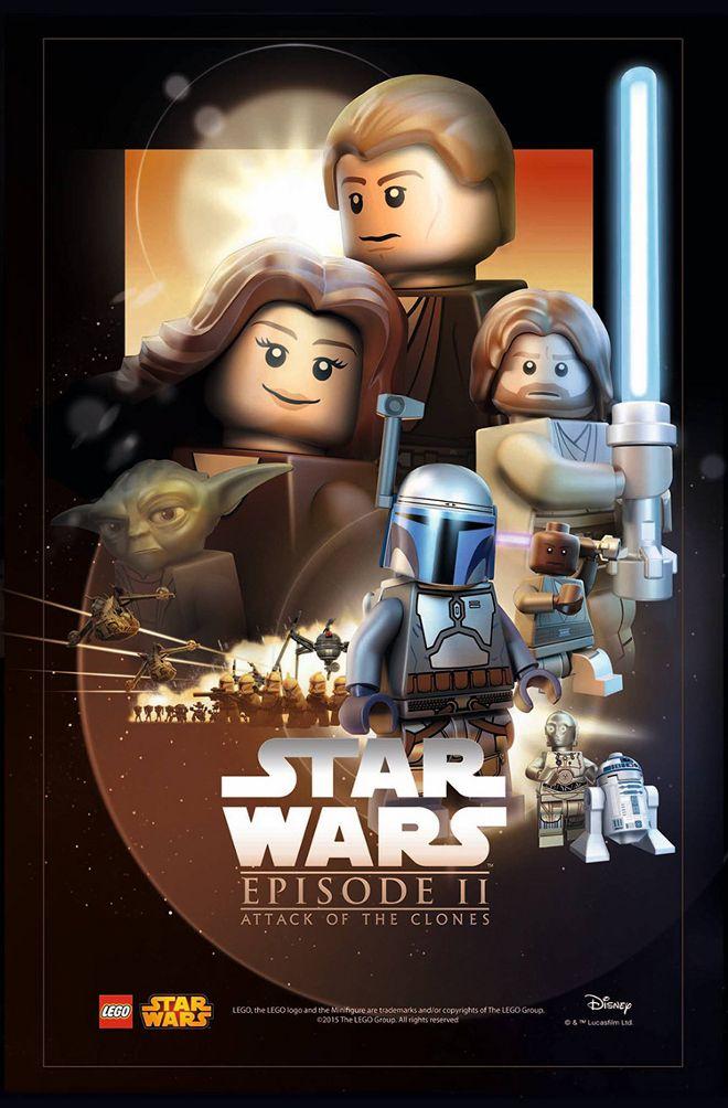 Lego Poster Star Wars Episodio II: El Ataque de los Clones