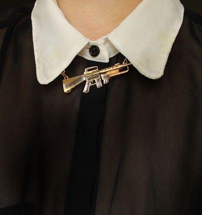 Machine Gun Gold Chain Necklace
