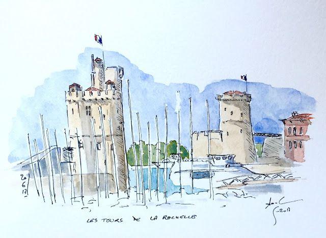 La Rochelle Carnet De Croquis Croquis Paysage Aquarelle