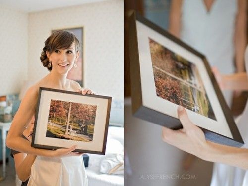 The groom hired a secret photographer for his proposal and didn't tell his bride. Gave her a picture of the proposal for a wedding gift.