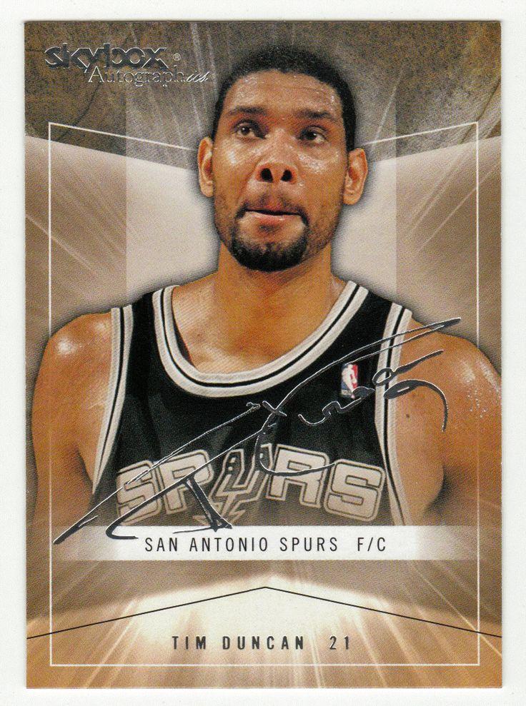 Tim Duncan # 37 - 2004-05 SkyBox Autographics Basketball