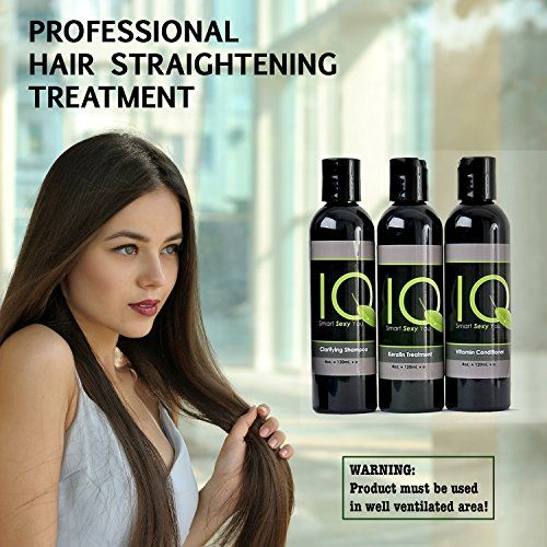 Brazilian Keratin Hair Straightening Treatment kit INCLUDES 4oz Clarifying Shampoo 4oz Post treatment conditioner 4oz Keratin Straightening Treatment *** Click image for more details.