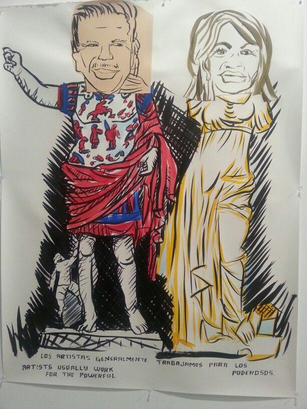 """Los poderosos"", Fernando Renes Galería Adora Calvo. Feria Estampa 2014. Madrid. #ArtFair #ArteContemporáneo #ContemporaryArt #Art #Arte #Arterecord https://twitter.com/arterecord"