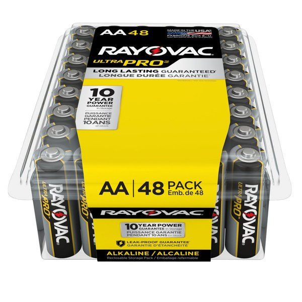 Rayovac Alaa 48ppj Ultra Pro Industrial Aa Alkaline Batteries 48 Pack Alkaline Battery Basic Office Supplies Batteries
