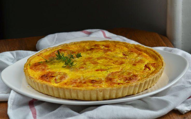 Quiche met tomaat, kaas en tijm