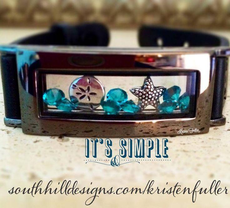 Graphite #locket #bracelet It's AMAZINGly beautiful! #southhilldesigns #prettythings #lovemylocket