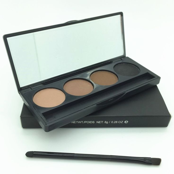 Ucanbe professionale dell'ombretto brow eye makeup 4 colori sopracciglio polvere Palette Con Double Ended Brush Eye Shadow Make Up Kit Set